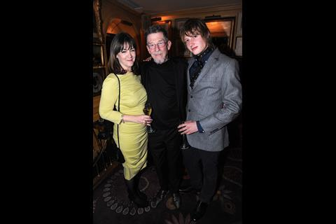 John Hurt, wife and son